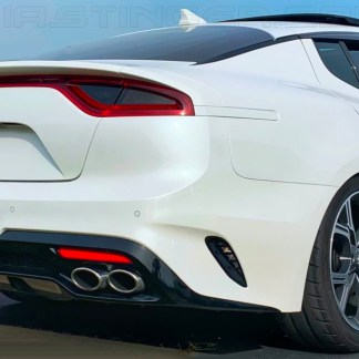 kia stinger with snow white pearl rear side reflectors