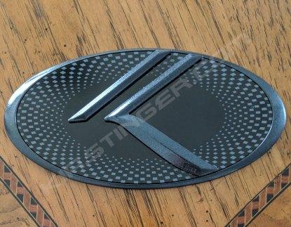 loden gloss black edge checkered center gloss black k