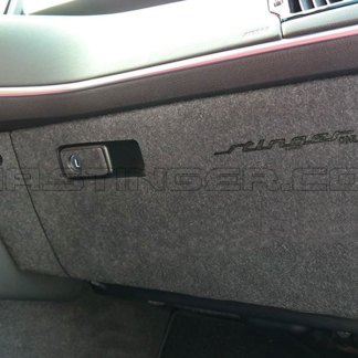 kia stinger glove box fabric