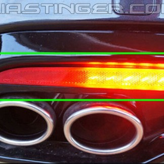 kia stinger sequential led rear bumper reflector lights