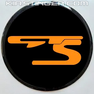 gts wheel caps for kia stinger in federation orange