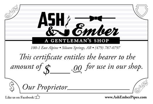 A gift certificate designed by me... no, printing it won't help you, it will need the signature of the Proprietor or his agent.