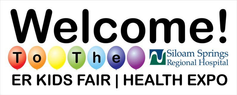 Siloam Springs Regional Hospital holds a Kids Fair and this year I had the honor of designing banners for the event. This is the Welcome banner.