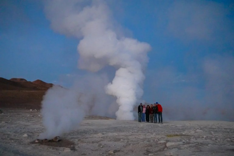 Steaming thermal vents