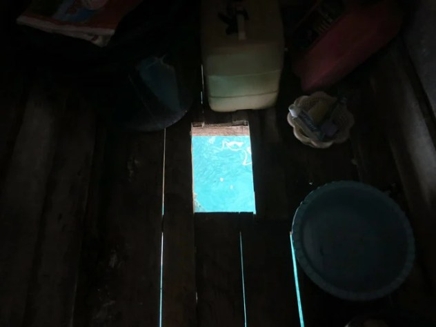 The toilet in the house we stayed in, we went diving in front of the house!