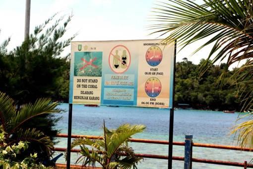 No bikini in public areas!