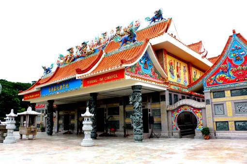 Chinese temple. Kanchanaburi backpacking guide