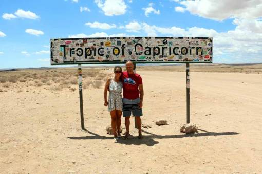 Somewhere in Namibian desert, crossing Tropic of Capricorn