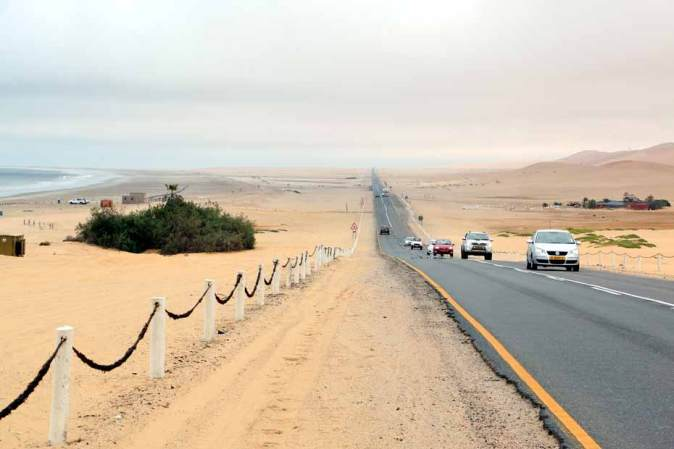 Driving the Skeleton coast, Swakopmund. Road trip Namibia