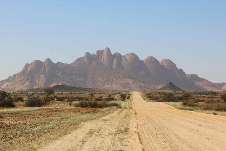 Smooth rocky mountains of Spitzkoppe, Namibia