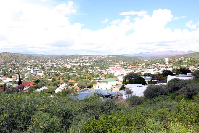 View over Windhoek from the Botanic garden