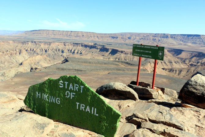 Starting point of Fish River canyon hike. No day visitors allowed!