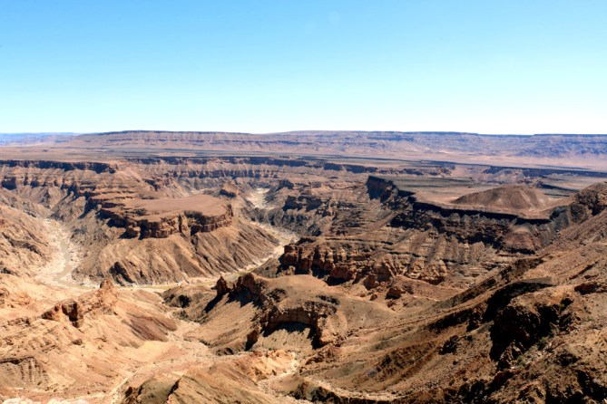 Fish River canyon from the view point.
