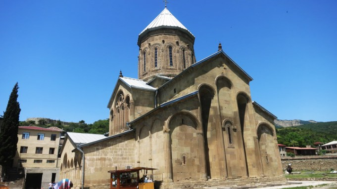 Svetitskhoveli Cathedral (Cathedral of the Living Pillar) is an Eastern Orthodox cathedral located in the historic town of Mtskheta