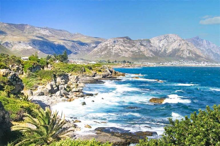 A stunning view of the coast from Hermanus