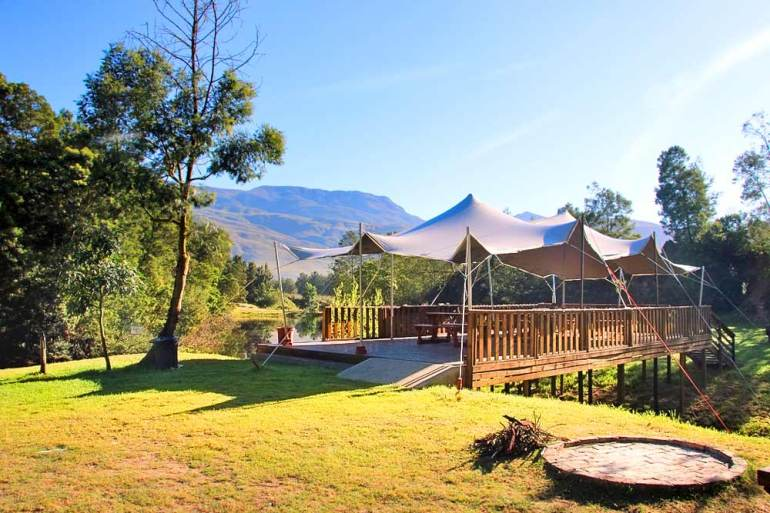 Beautiful scenery at Khomeesdrif campsite, one of the best spots for a camping getaway from Cape Town
