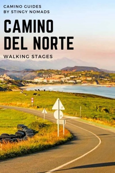 Camino del Norte walking stages pin