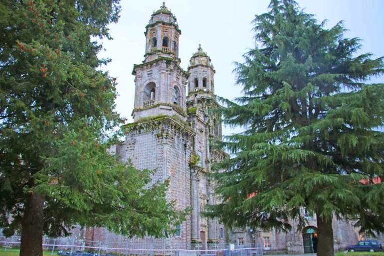 The bell-towers of the monastery-church in Sobrado dos Monxes