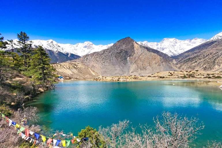 Stunning Dhumbra Lake, Annapurna Circuit, Nepal