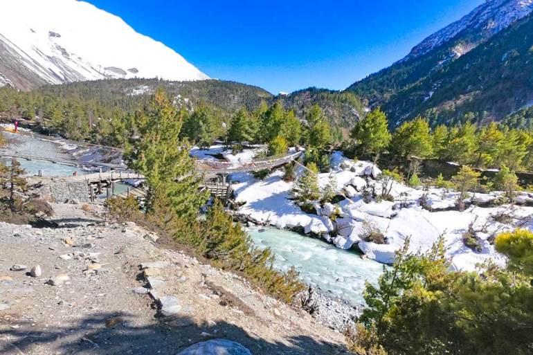 Breathtaking scenery on the Annapurna Circuit, Nepal