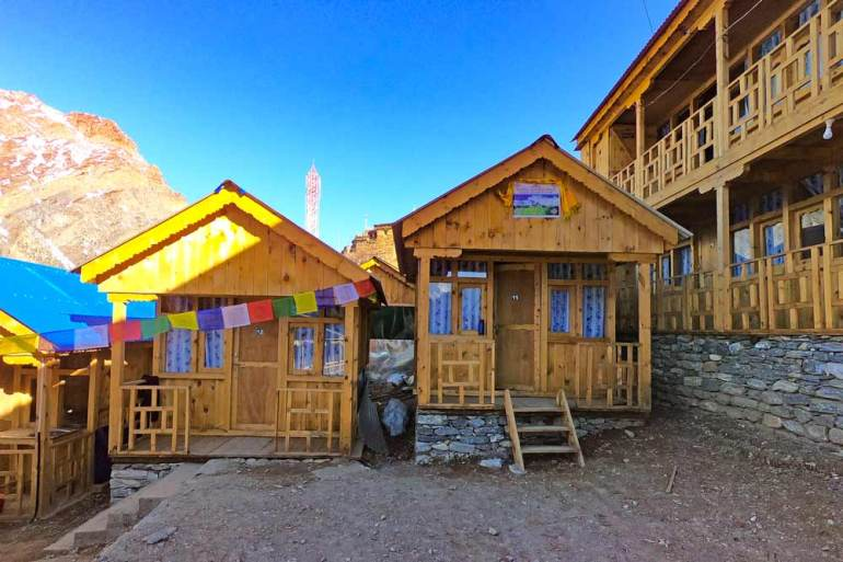 Guesthouses at Upper Pisang, Annapurna Circuit