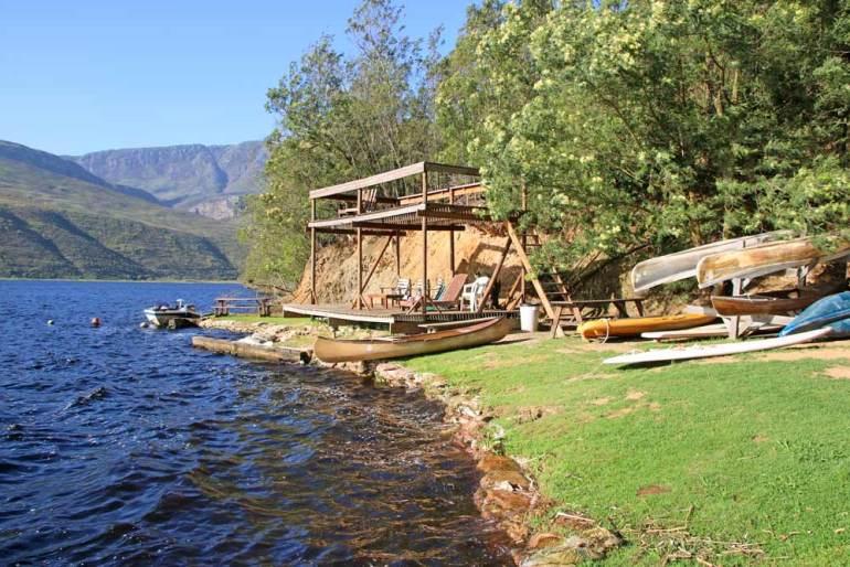 A dam at Umshanti campsite a beautiful dog-friendly campsite