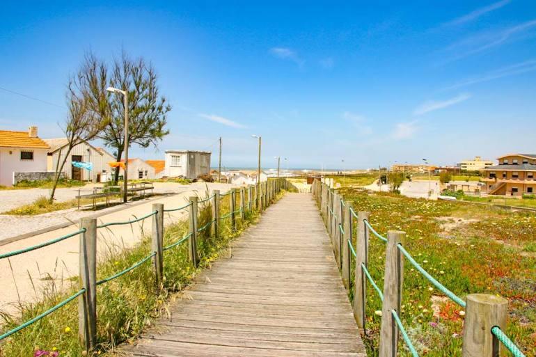 Scenery on the Coastal Portuguese Camino route