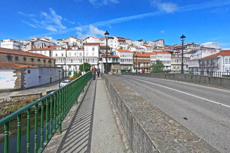 A picturesque town with red-roof on the English Way of Santiago