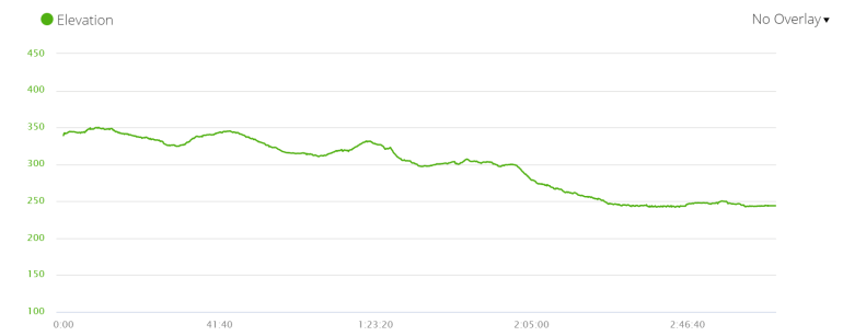Day 9 elevation profile, Via de la Plata