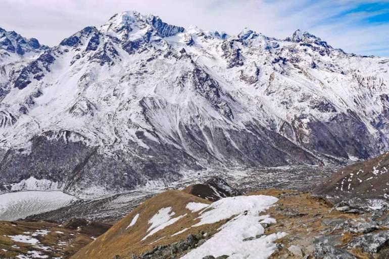 Breathtaking scenery from Kyanjin Ri peak, the highlight of the trek