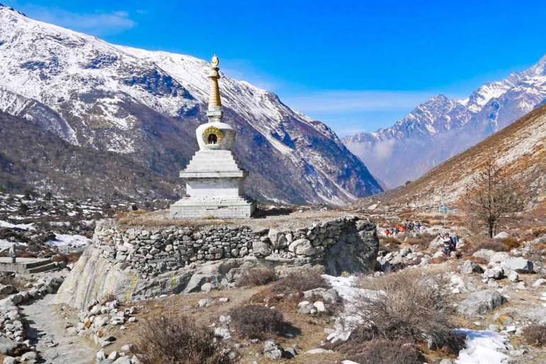 Buddhist stupa on the Langtang trek