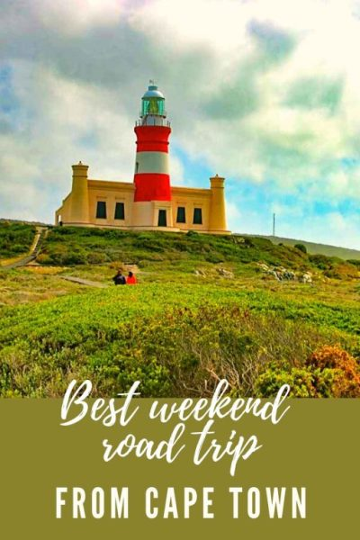 Cape Town to Cape Agulhas road trip pin