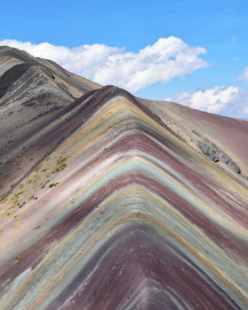 Colorful Rainbow Mountain on the Ausangate trek in Peru