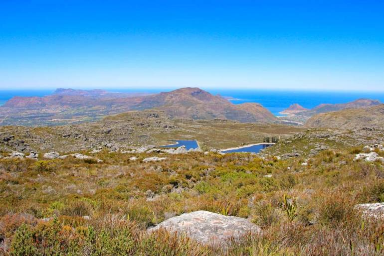Landscape on the top of Table Mountain on the way to Maclear's Beacon