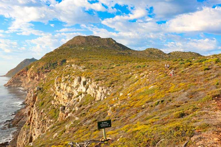 Beautiful scenery on the Cape of Good Hope hike in Cape Town