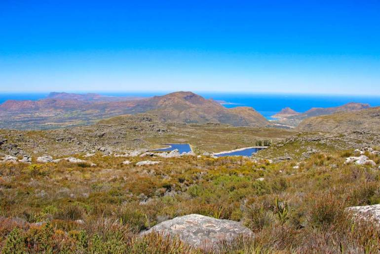 Table Mountain and its surroundings at Maclear's Beacon, an easy hike in Cape Town