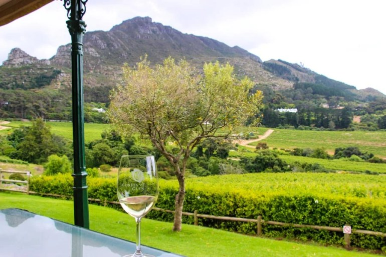 Sitting basically in the vineyards tasting wine, the views at Constantia Glen was our favorite on the Constantia wine route.