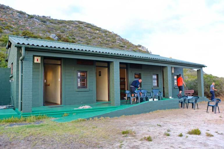 An overnight hut on the Cape of Good Hope hike at Cape Point