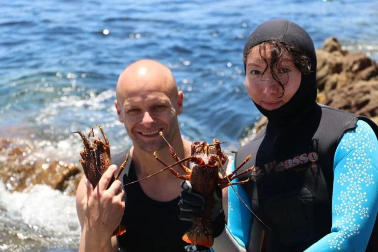 crayfish diving hermanus