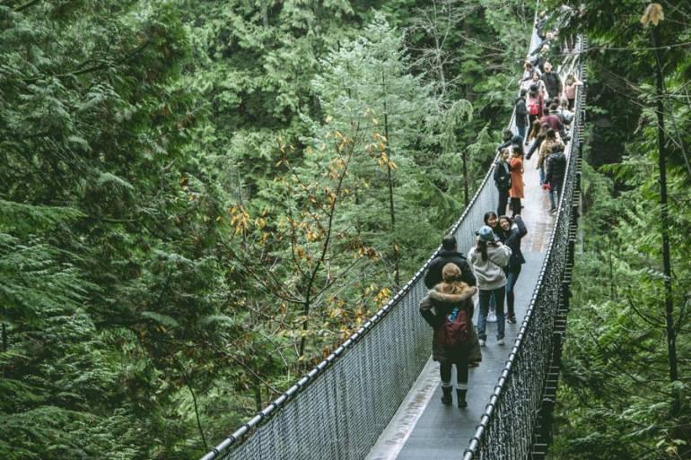 the Capilano Suspension Bridge Vancouver