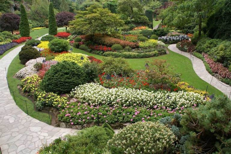 The Butchart Gardens Victoria on Vancouver Island.
