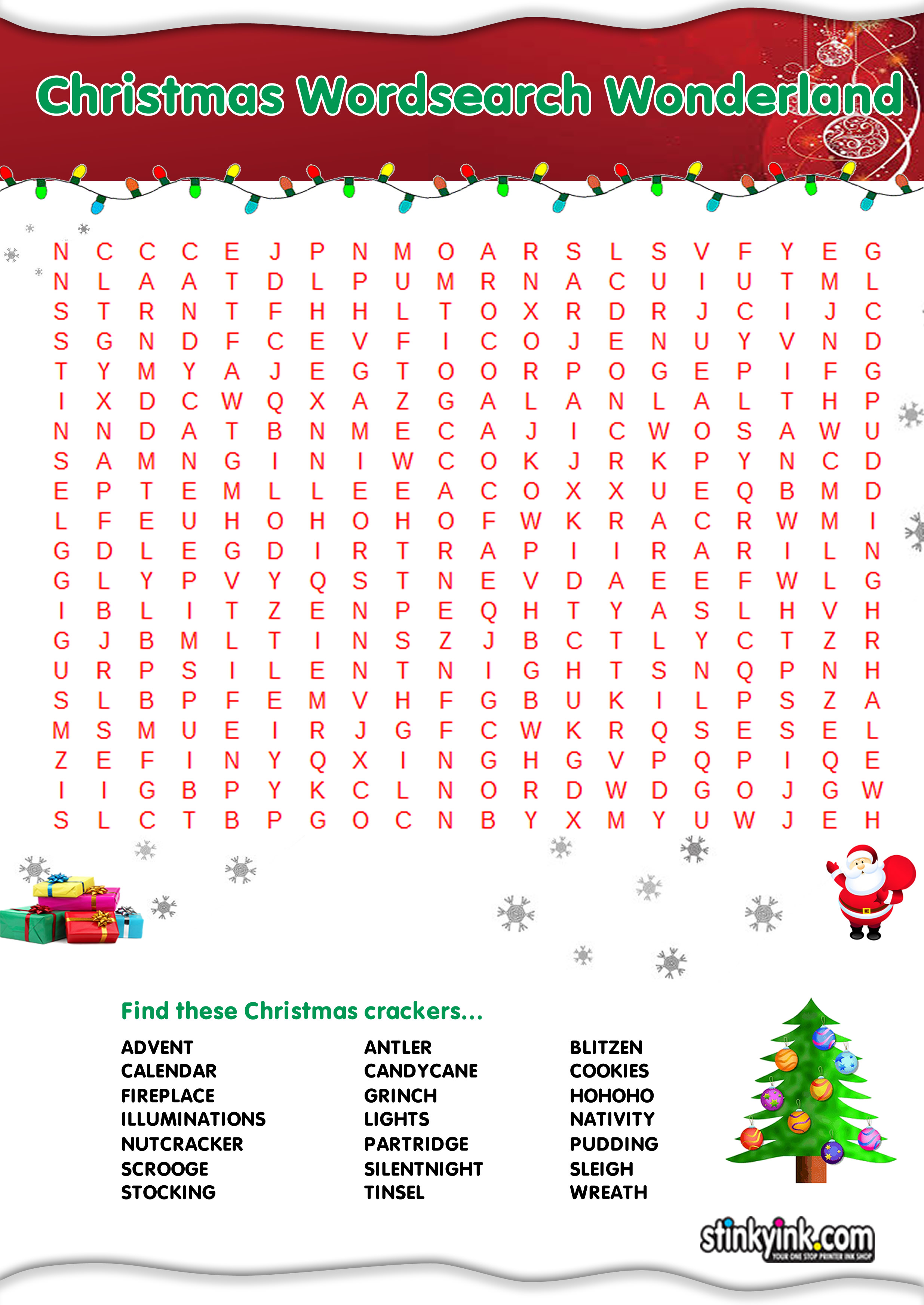 Christmas Themed Wordsearches
