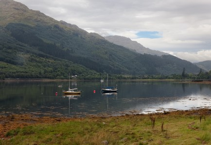 Sailboats on Loch Long