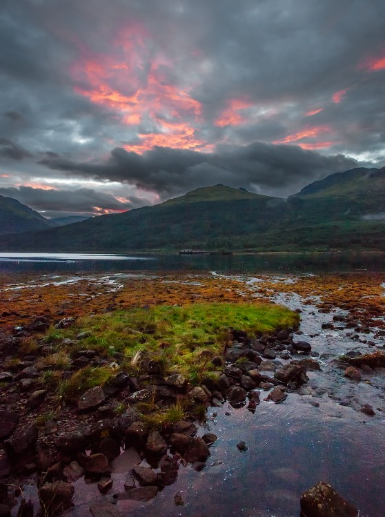 Sunset over Loch Long