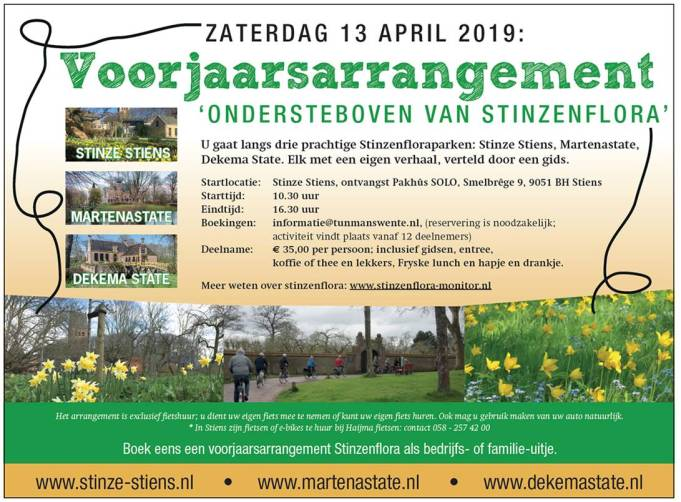 Guided spring tour Stinzenflora 13 April