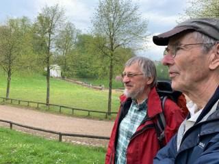Ulrich Mierwald (achter), Willem van Riemsdijk (voor) bij Schloss Gottorf. 26.04.2019.