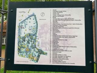 Schlosspark Evenburg in Leer. Plattegrond. Foto Stinze Stiens.