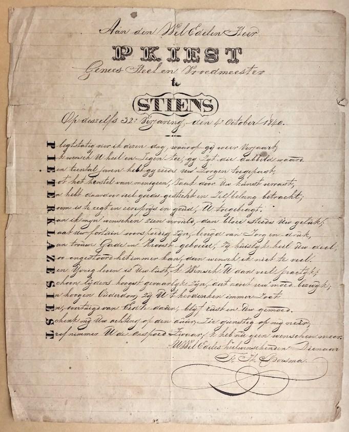 Nammefers P.K. Iest 1840
