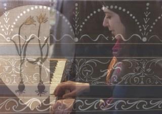 Catalina Vicens. 'Fotocollage' met decoraties van het San Quirico orgel.