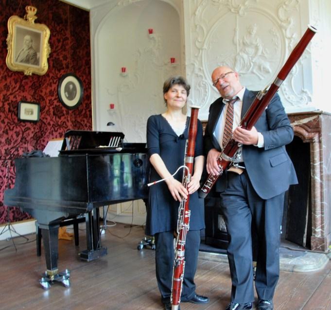 Duo Fagottissimo, Marjolein Wielinga en Leo de Jong.